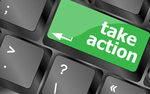 "enter button that says ""take action"""