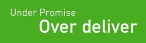 Underpromise-overdeliver