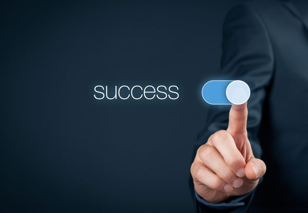 Image portraying switching on success
