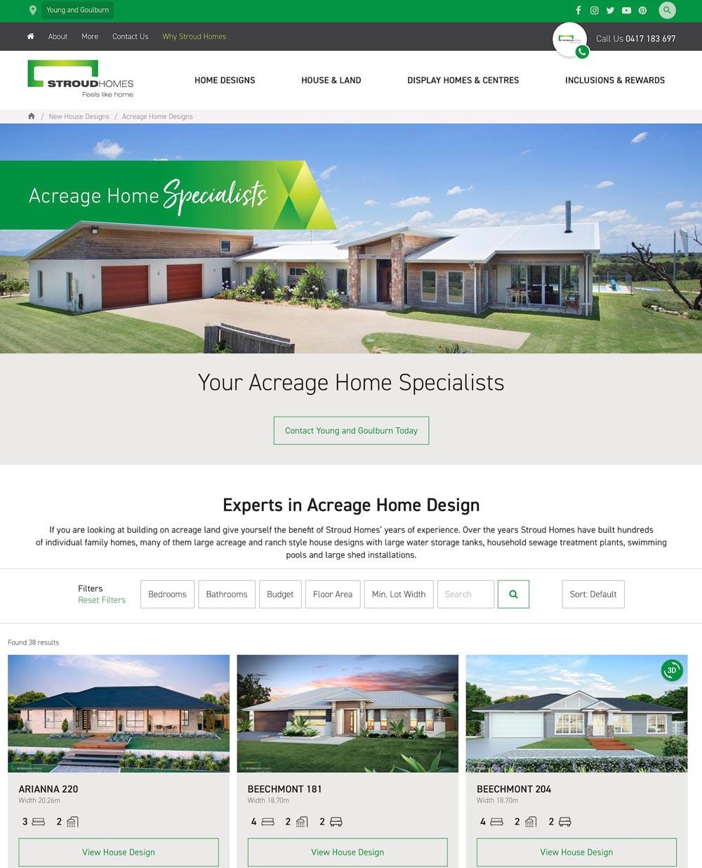 Stroud Homes website